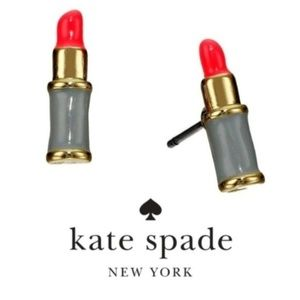 NWT Kate Spade Kiss and Make Up Lipstick Earrings